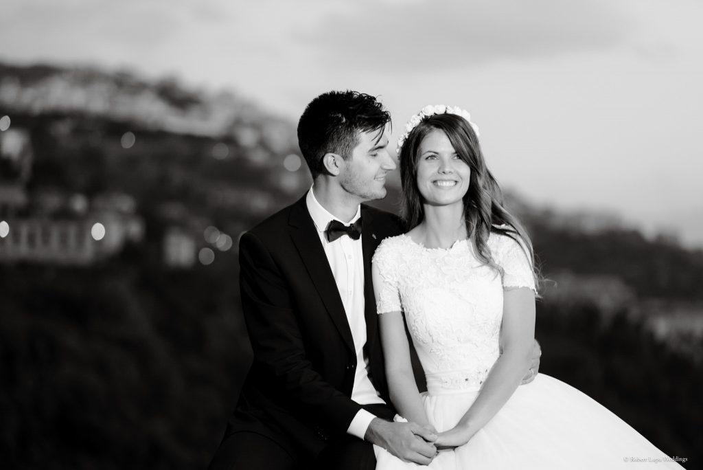 Romanian Wedding Photos in Tivoli Italy